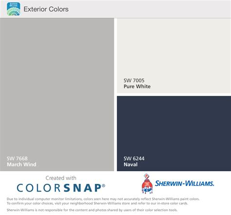 colors that work with gray sherwin williams march wind pure white and naval house