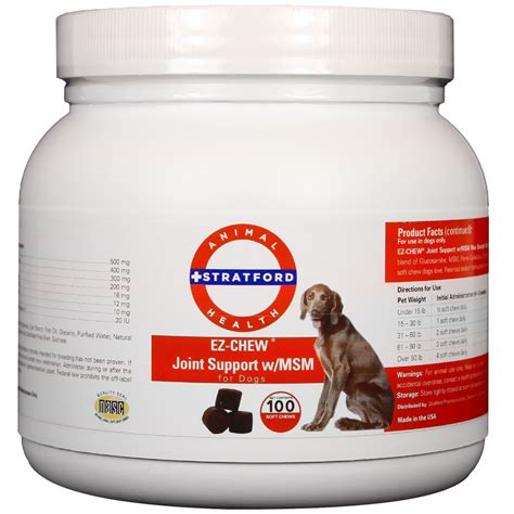 msm for dogs ez chew joint support with msm for dogs 100 soft chews