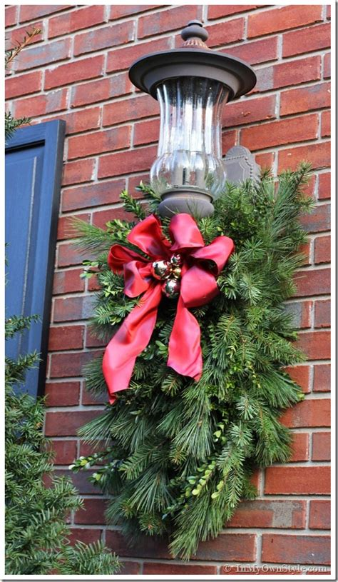 diy christmas porch light decoration in my own style