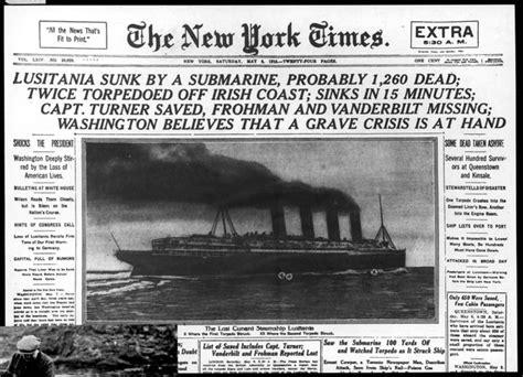 u boat crisis ww1 headline of the lusitania ww1 pinterest newspaper