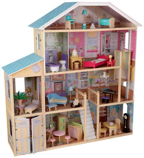 majestic doll house kidkraft majestic mansion dollhouse with furniture just 129 99 reg 246 99