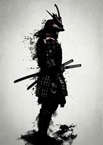 armored samurai mixed media by nicklas gustafsson