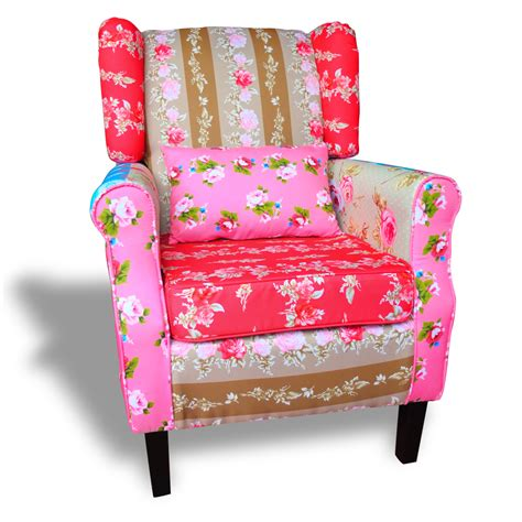 Patchwork Armchair For Sale - patchwork chair relax wing armchair multi colored settle