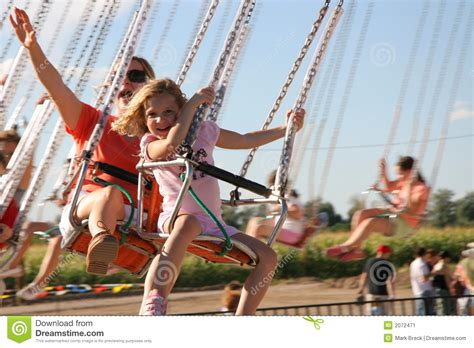 amusement park swing amusement park swings stock image image of flying family