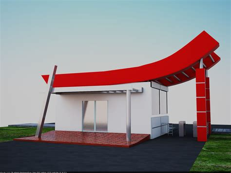 guard room design security guard room 3d design by hasan t 252 rkay at coroflot