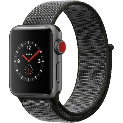 Smartwatch Apple Seri 3 Gps 38mm Space Grey Alum With Black Sport Band apple series 3 38mm smartwatch mqjt2ll a b h photo