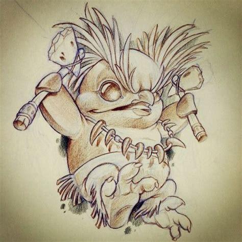 tattoo cartoon new school penguin eyebrows tomahawk newschool cartoon sketch