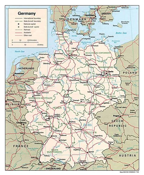 map of germany and maps of germany detailed map of germany in