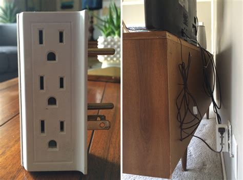 how to hide l cords image gallery outlet cover wires