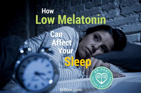 Detox And Insomnia by How Low Melatonin Can Affect Your Sleep Doctor Doni