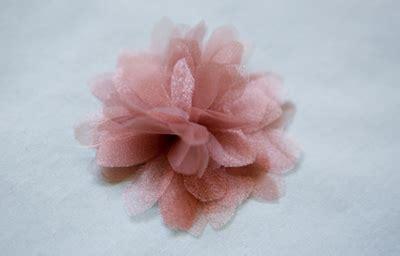 fabric flower tutorial organza diva tube organza flower tutorial