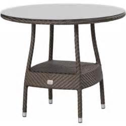 rattan tisch rund 4seasons outdoor cafe tisch rund 90 cm polyrattan gold ebay