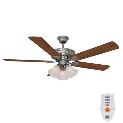 hton bay 52 inch ceiling fan hton bay cbell 52 in indoor brushed nickel ceiling