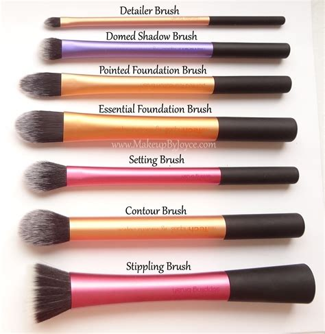 beauty review real techniques make up brushes the red style eye makeup brushes and their uses
