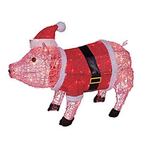 best lighted pig yard art view 27 quot lighted acrylic pig deals at big lots