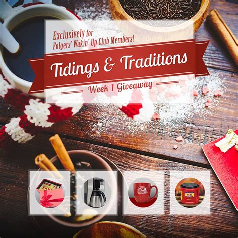 Folgers Sweepstakes - folgers wakin up club holiday sweepstakes thrifty momma ramblings