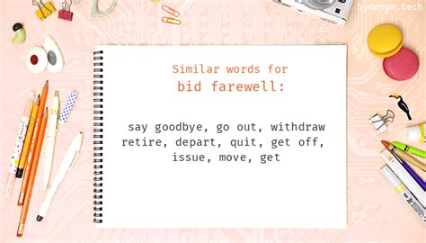 bid farewell bid farewell synonyms that belongs to phrasal verbs