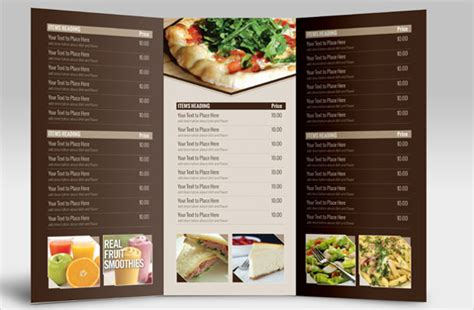 pages menu card template 29 catering menu templates free sle exle format