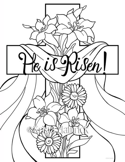 he is risen coloring page quotes