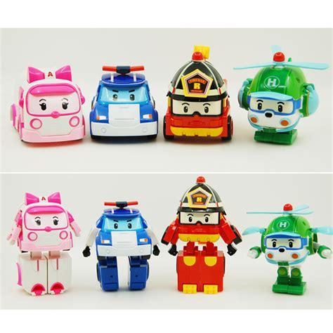 New 2pc Robocar Poli new robocar poli transformation robot car toys for gifts 4 pcs ebay