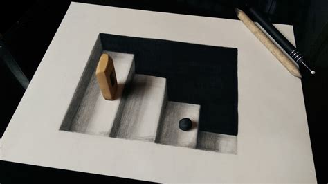How To Make 3d Drawing On Paper - how to draw 3d stairs with pencils or markers i you