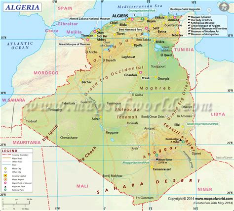 travel directions and map algeria map map of algeria