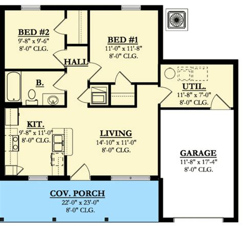 starter home floor plans architectural designs