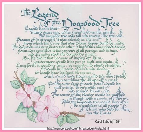 printable legend of the christmas tree legend of the dogwood tree poem google search heavenly