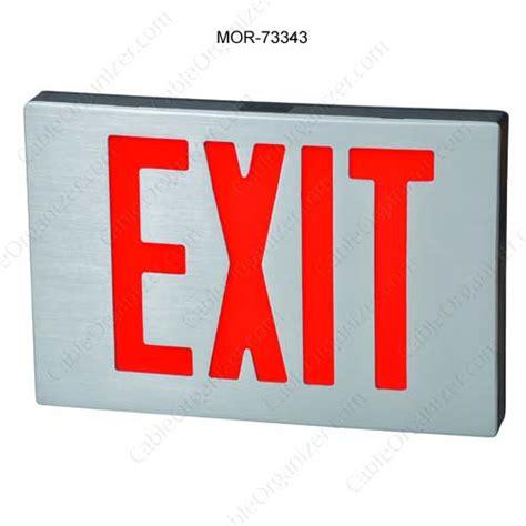 Led Exit Sign cast aluminum led exit signs cableorganizer
