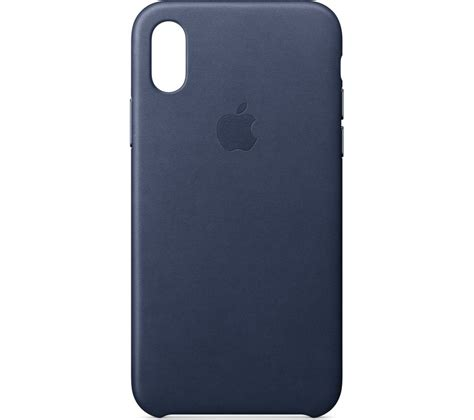 apple iphone x leather midnight blue deals pc world