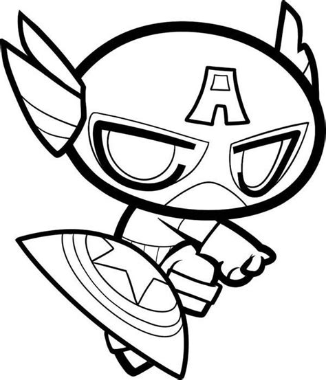 cute superhero coloring pages chibi captain america and coloring pages on pinterest