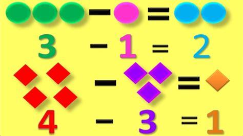 imagenes matematicas para niños preescolar aprendiendo a restar matem 225 ticas para ni 241 os video