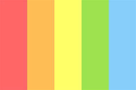 rainbow color palette rainbow simple color palette
