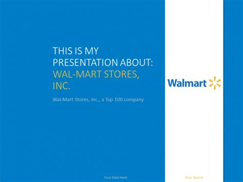 wal mart powerpoint template presentationgo top
