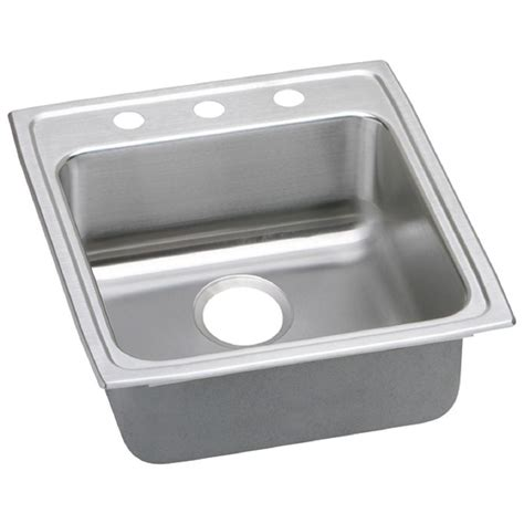 home depot kitchen sinks drop in elkay lustertone drop in stainless steel 20 in 3 hole