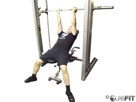 smith machine incline bench smith machine reverse grip incline bench press exercise