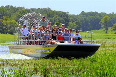 fan boat tours florida airboat ride at florida with transportation