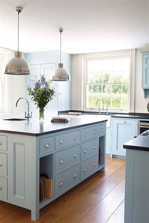 light blue kitchen ideas colored kitchen cabinets inspiration the inspired room