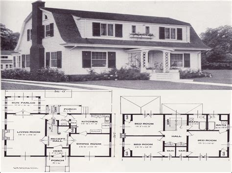 dutch house plans dutch colonial 1906 gambrail 1920s dutch colonial house