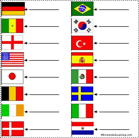 flags of the world exercise flag matching game winter olympics games for kids