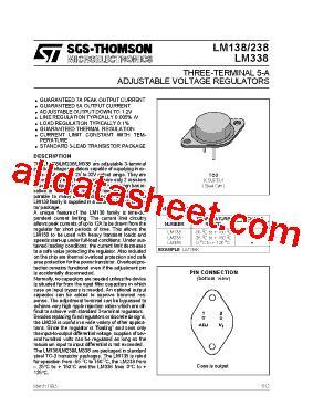 transistor lm338k datasheet lm338 datasheet pdf stmicroelectronics
