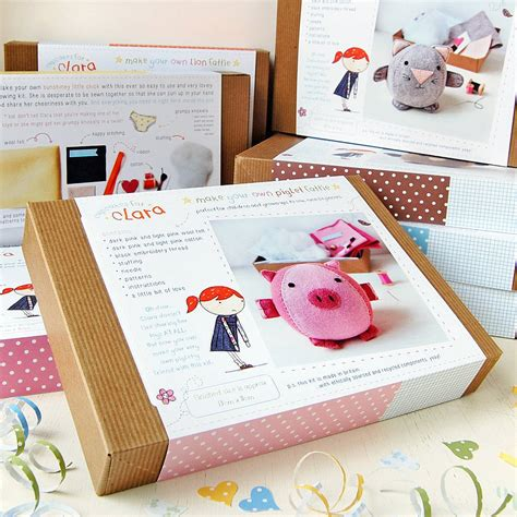 craft kit for make your own piglet craft kit by clara and macy