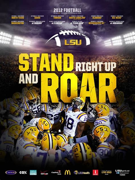 Lsu by Official Lsu Football Schedule Poster Photo