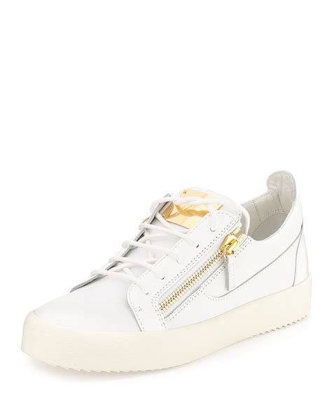 mens low top sneakers giuseppe zanotti patent leather low top sneakers in white