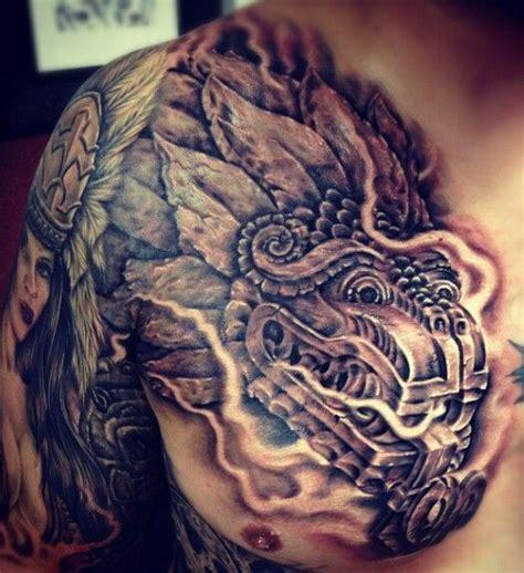 tattoo azteca aztec chest tattoos aztec
