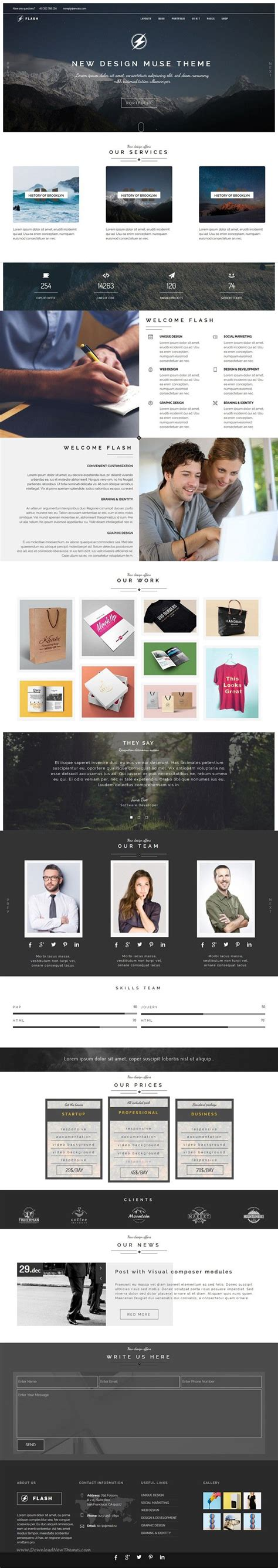 templates for muse 1000 images about best adobe muse template collection on