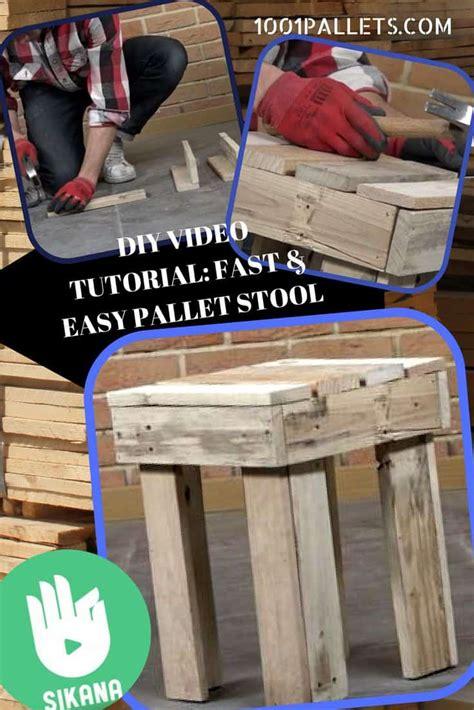diy video tutorial fast pallet stool  pallets