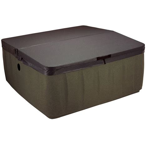 bathtub covers home depot aquarest spas ar 600 replacement spa cover walnut 481021