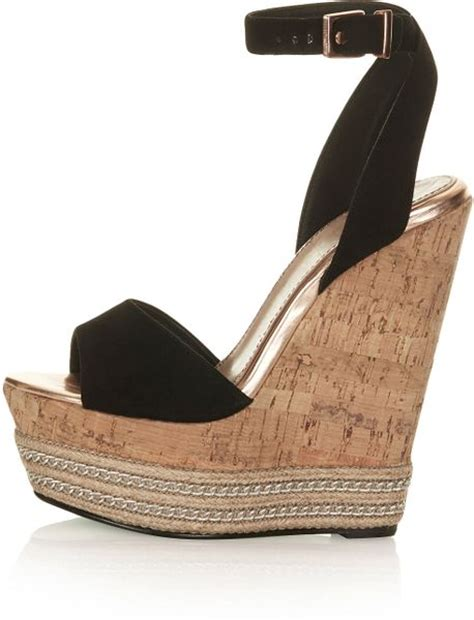 topshop miami wedges by cjg in black lyst