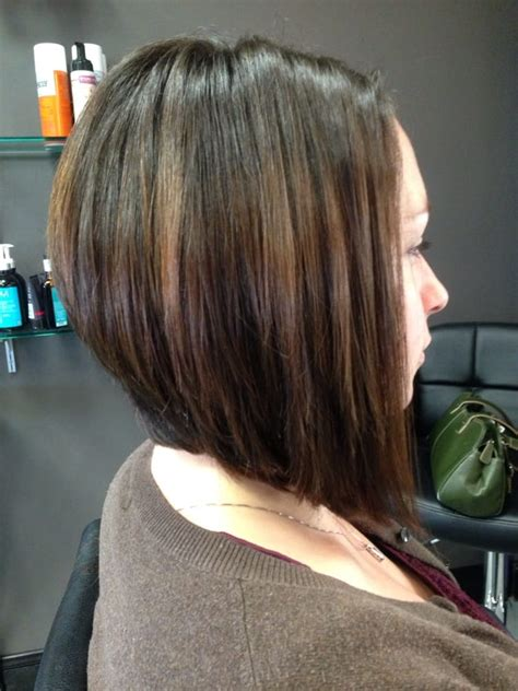 bob tapered sides and back tapered side bob medium length haircut back view short